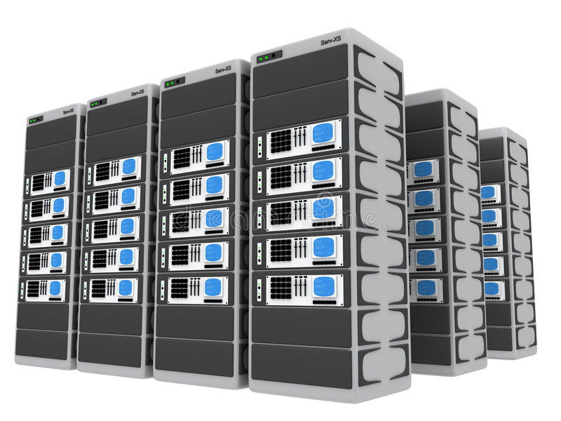 3d servers stock illustration