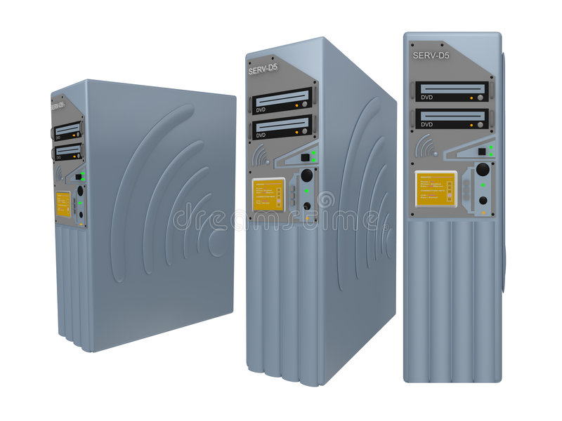 Download 3d Servers #2 Stock Photo - Image: 192690