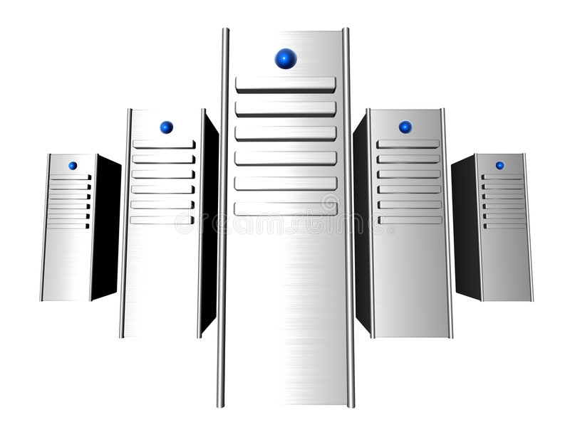 3D Servers vector illustratie