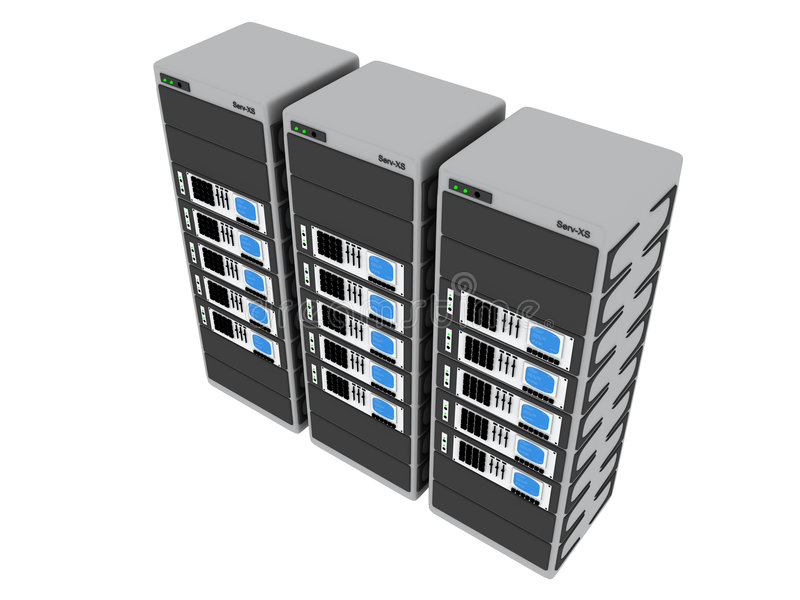 3d Servers #4 vektor abbildung