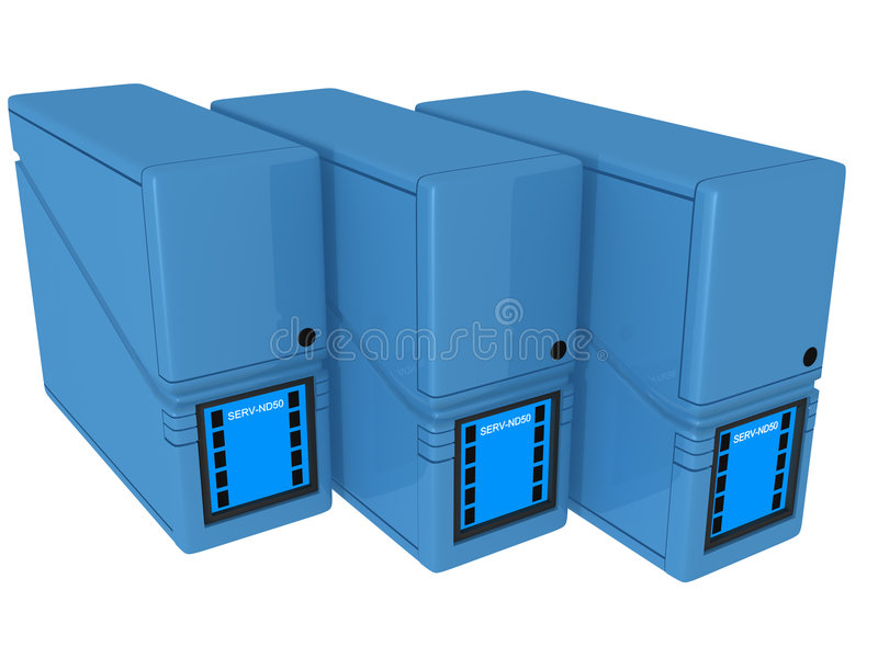 3D Servers ND royalty free illustration