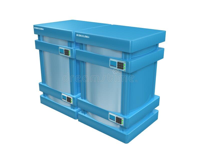3d serveurs bleus #2a illustration de vecteur