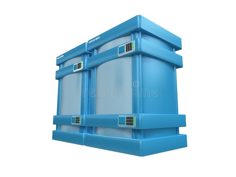 Download 3d servidores azules #2b stock de ilustración. Ilustración de diseño - 189048