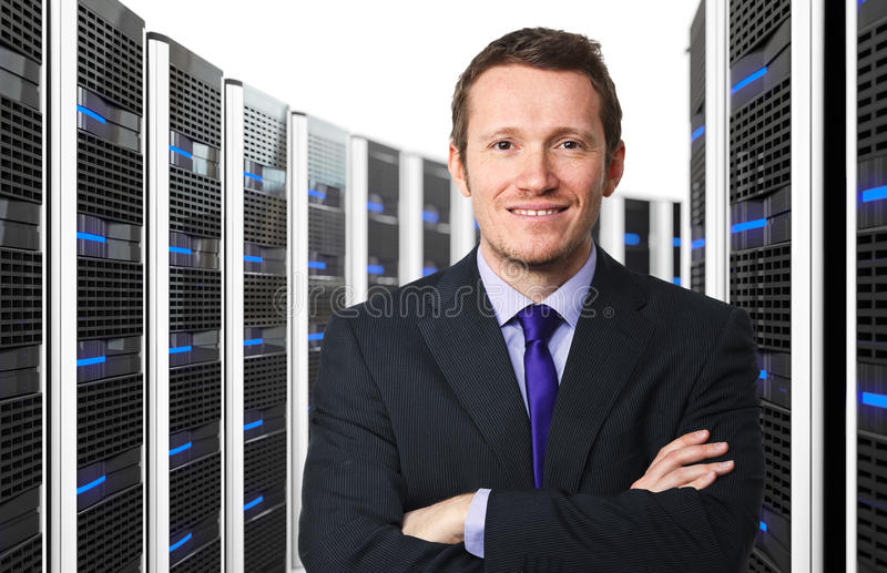 3d serweru pracownik obrazy stock