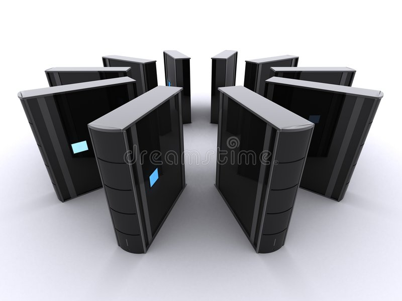 3d serwery ilustracji