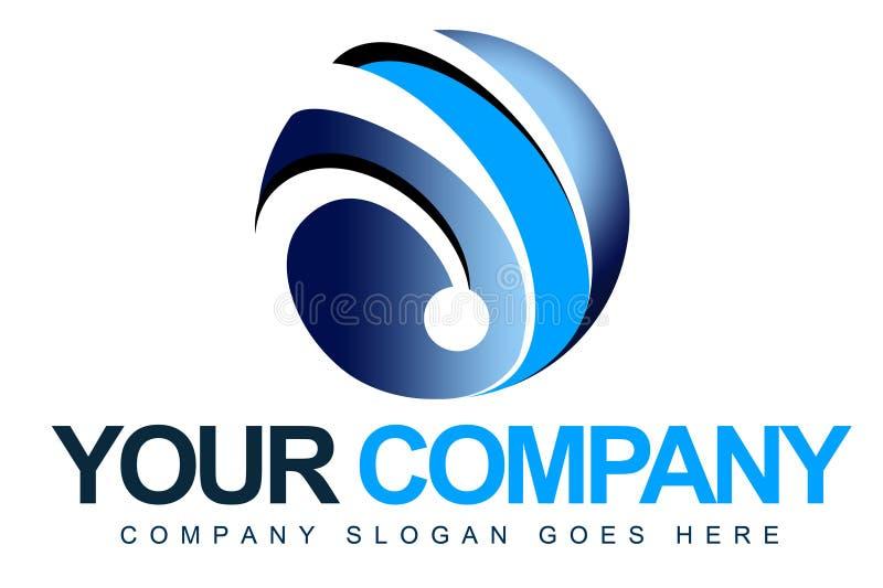 3D Sfera Logo ilustracja wektor