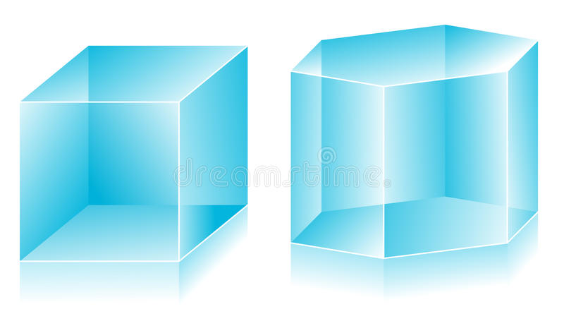 Download 3D shape stock vector. Image of blank, icon, concepts - 12236724