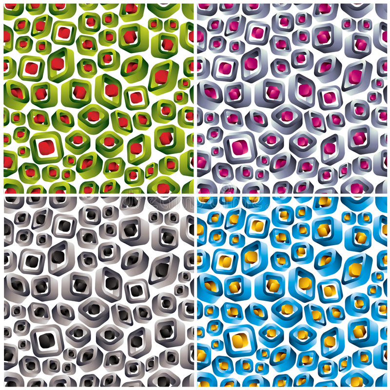 Download 3d Shapes Seamless Patterns. Stock Vector - Image: 22520253