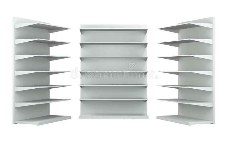 3D shelves and shelf royalty free stock photo