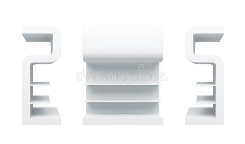 Download 3D shelves and shelf stock illustration. Image of clear - 26520099