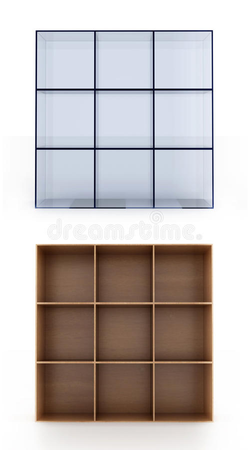 Download 3D Shelves On White Background Stock Image - Image: 19488993