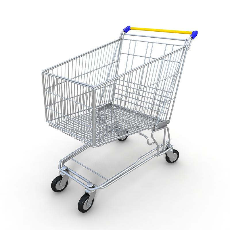 Download 3d shopping cart stock illustration. Image of background - 25566361
