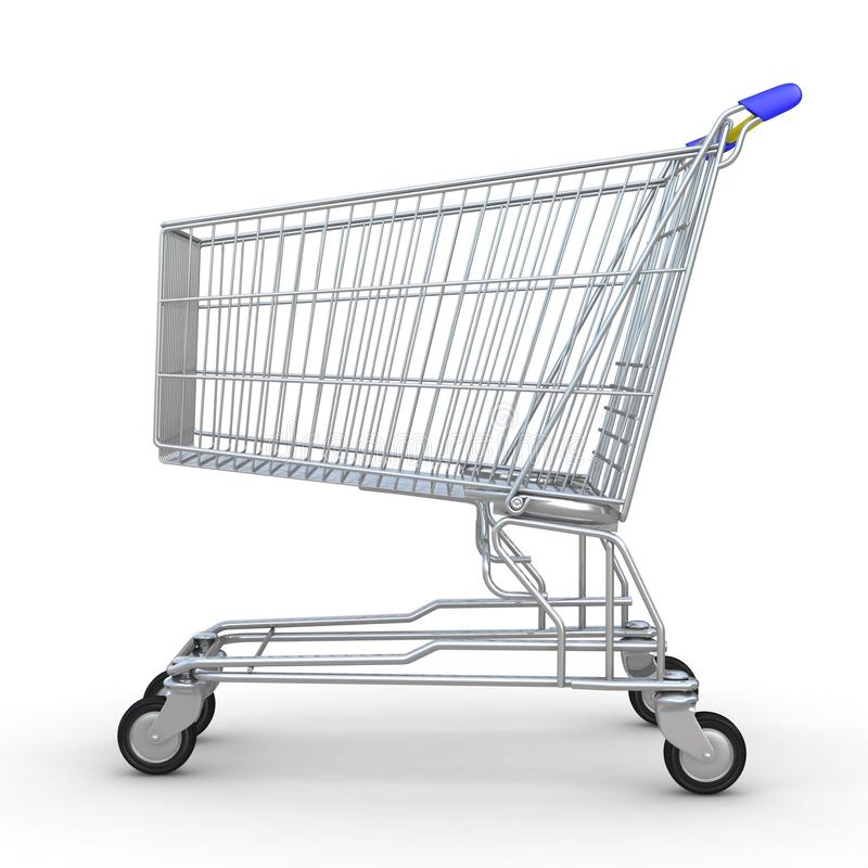 Download 3d shopping cart isolated stock illustration. Illustration of image - 25566389