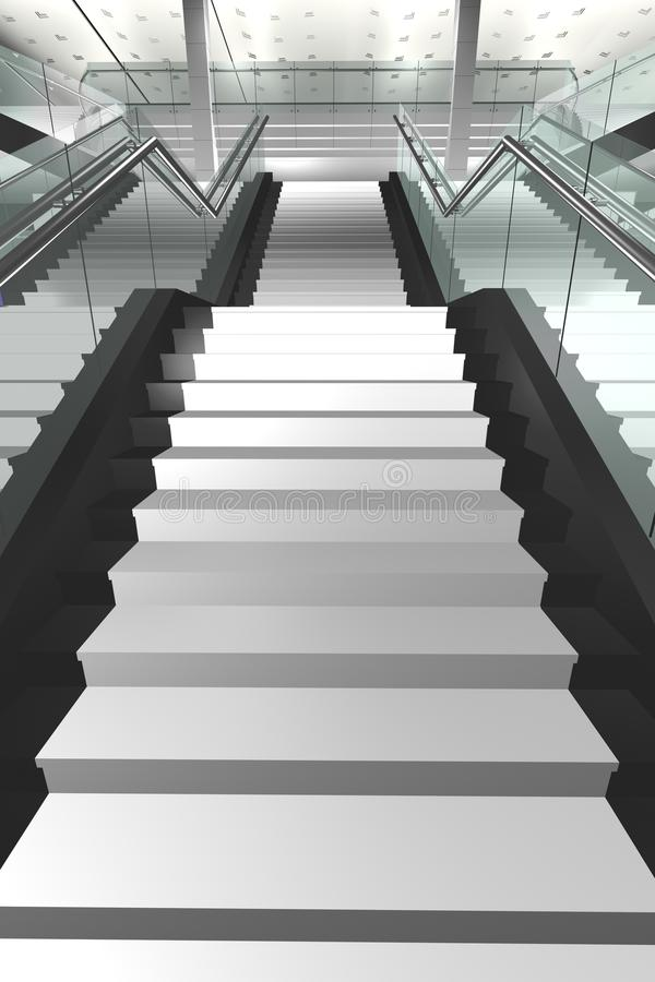 3d shopping staircase royalty free stock photos