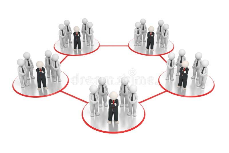 3d sieci biznesowe drużyny royalty ilustracja