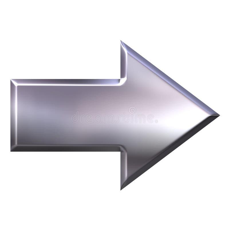 Free 3D Silver Arrow Stock Photo - 2924330