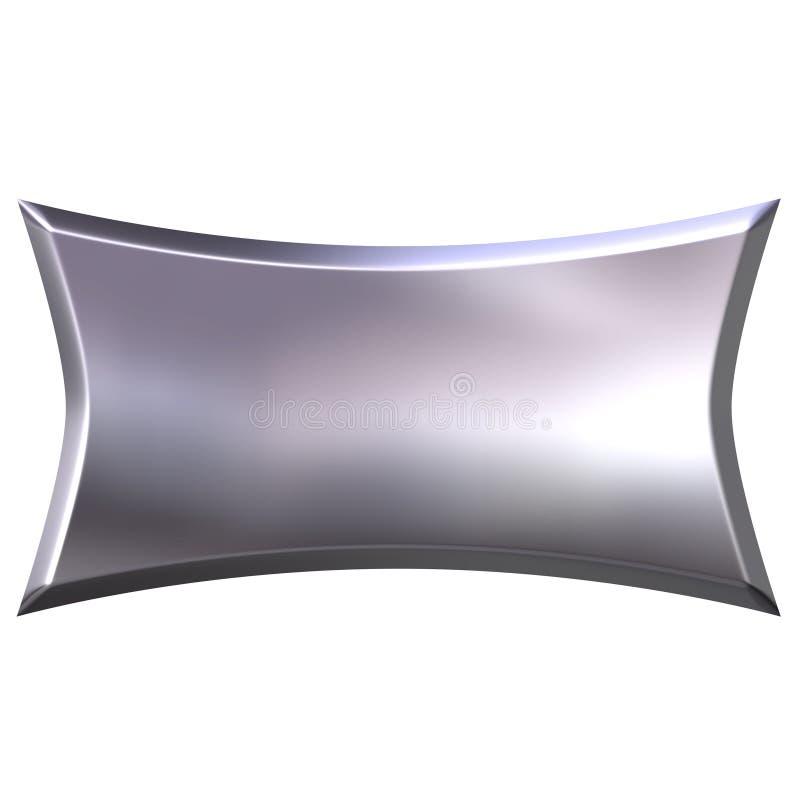 3D Silver Banner stock illustration
