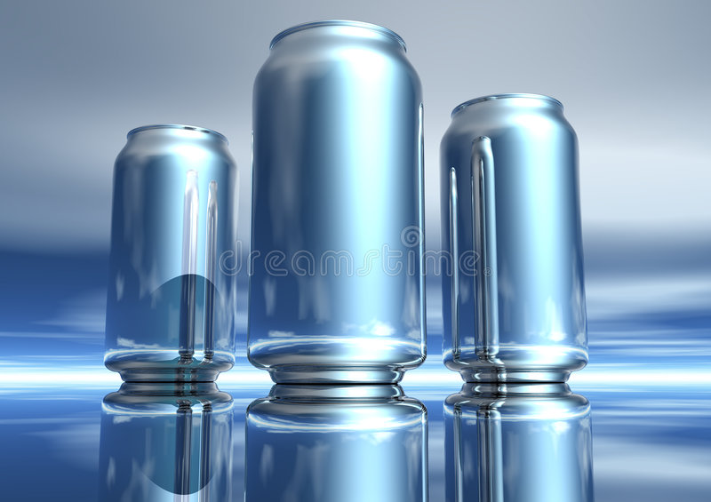 Download 3D Silver Drink Can Collection Stock Illustration - Illustration of aluminum, reflection: 1718088