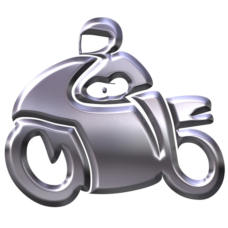 Download 3D Silver Motorbike stock illustration. Image of isolated - 3252101