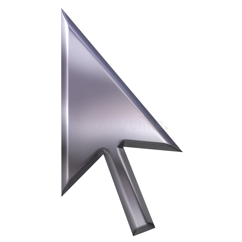 3D Silver Pointer royalty free illustration