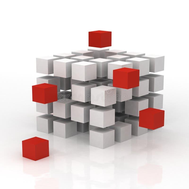 3d skära i tärningar innovation stock illustrationer