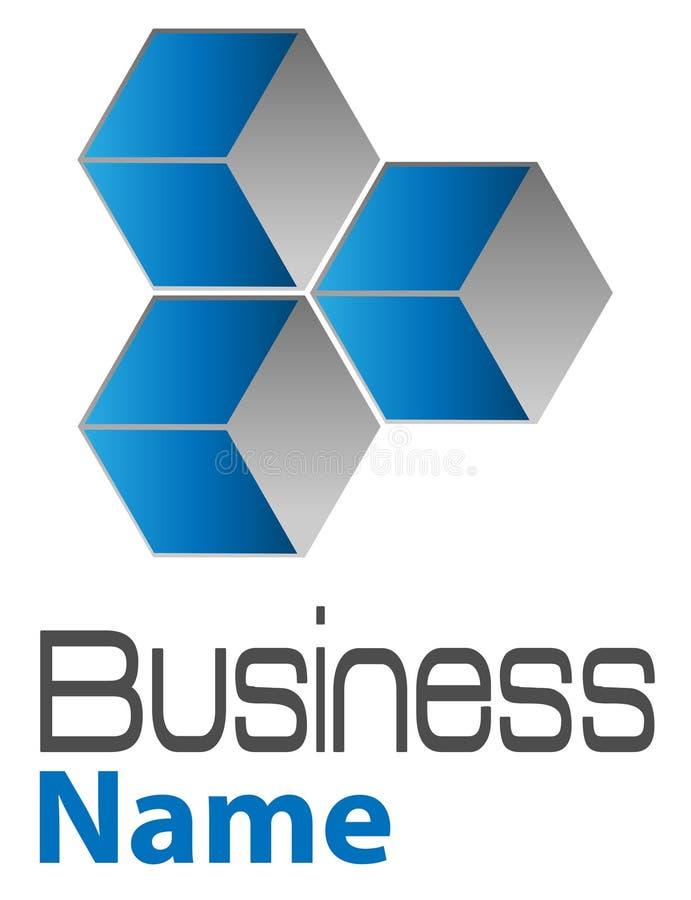 3d skära i tärningar logo royaltyfri illustrationer