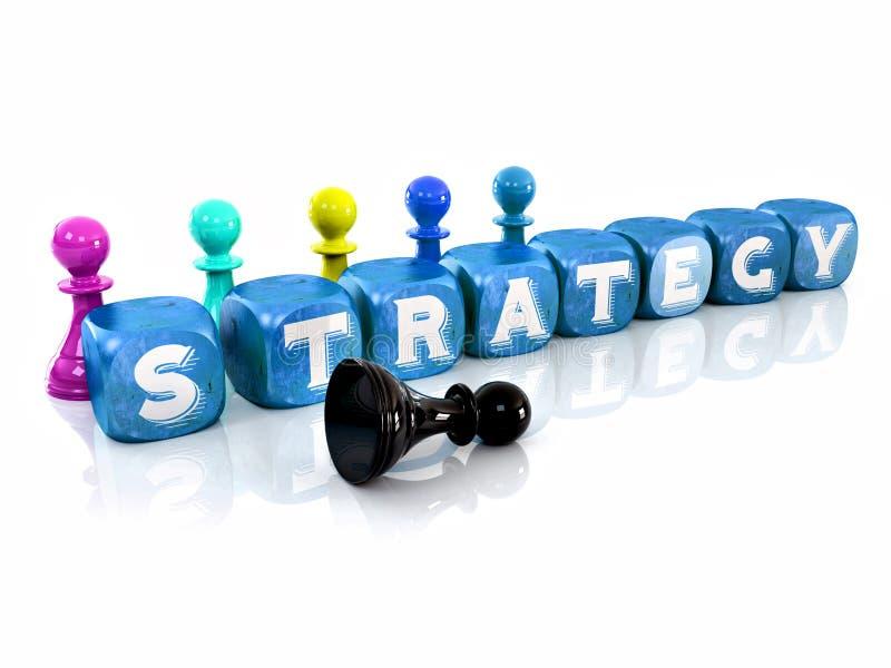 3d skära i tärningar strategi royaltyfri illustrationer