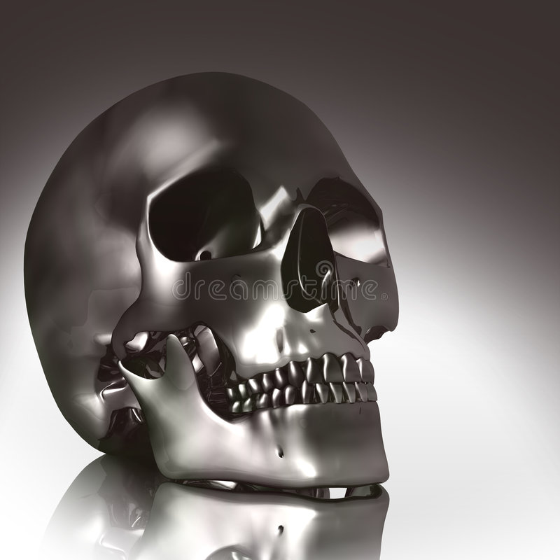 Download 3D skull stock illustration. Image of illumined, isolated - 5625965