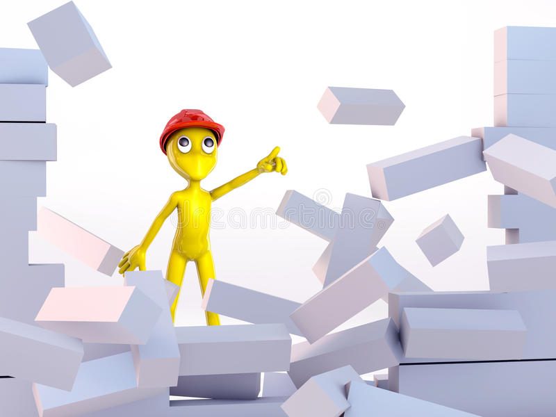 3d Small People Royalty Free Stock Image