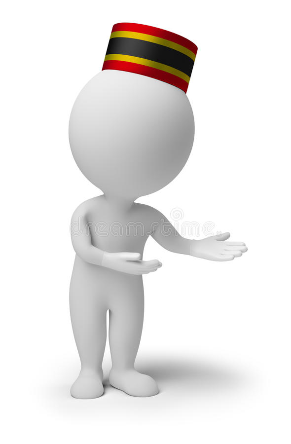 3d Small People - Bellboy Stock Photography