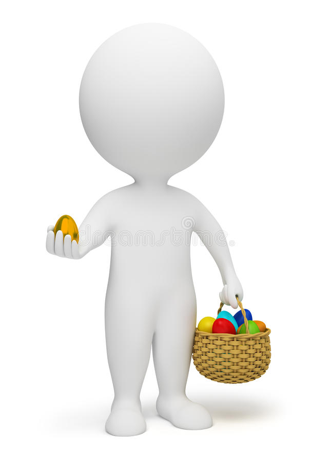 3d small people - Easter royalty free illustration