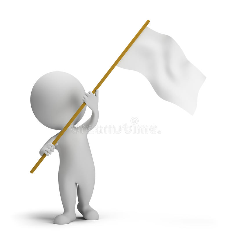 3d small people - flag royalty free illustration