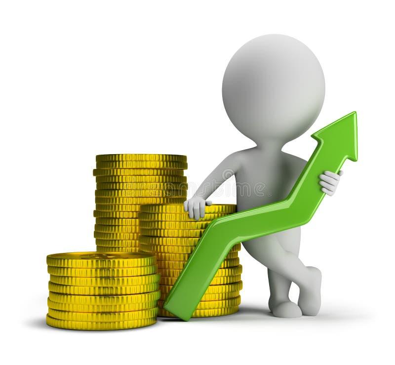 3d small people - good profit stock illustration