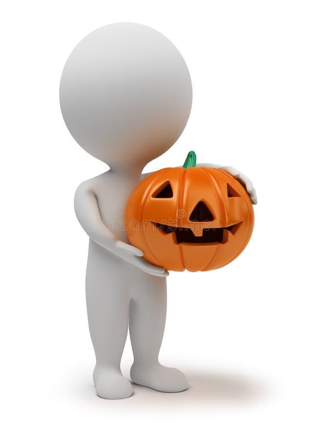 3d small people - Halloween stock illustration
