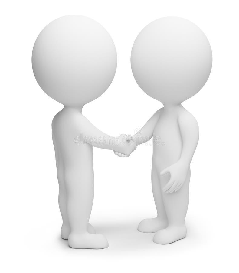 Download 3d Small People - Handshake Stock Illustration - Illustration: 13532883