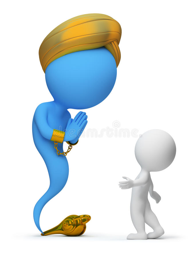 Download 3d small people - jinn stock illustration. Illustration of symbol - 14040577