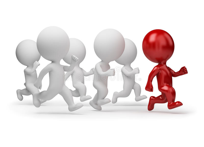 Download 3d Small People - Leader Of Running Stock Photos - Image: 16591553