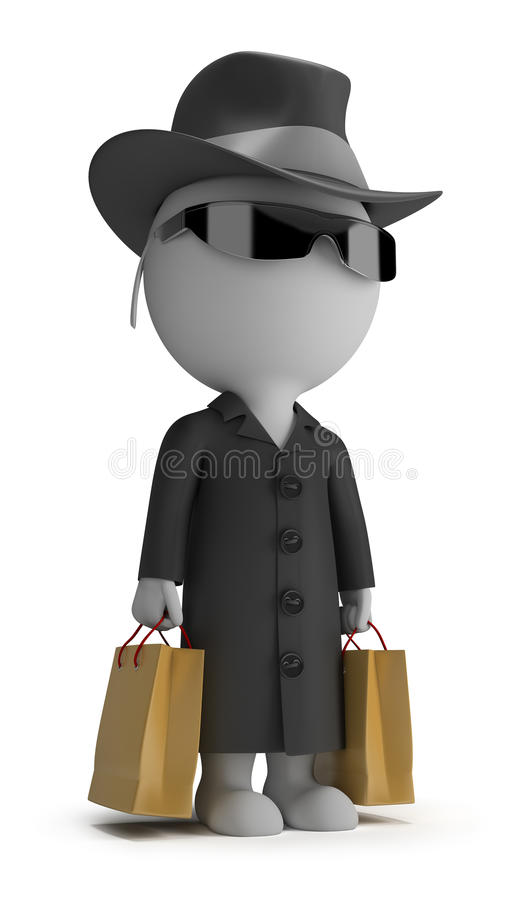 Free 3d Small People - Mystery Shopper Stock Photo - 24412880