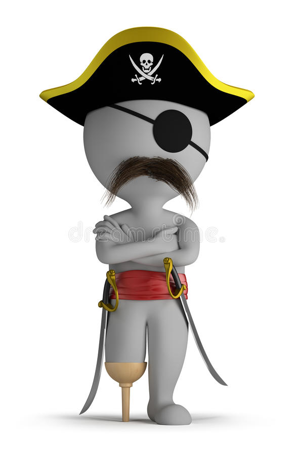 Free 3d Small People - Pirate Royalty Free Stock Photos - 25186878