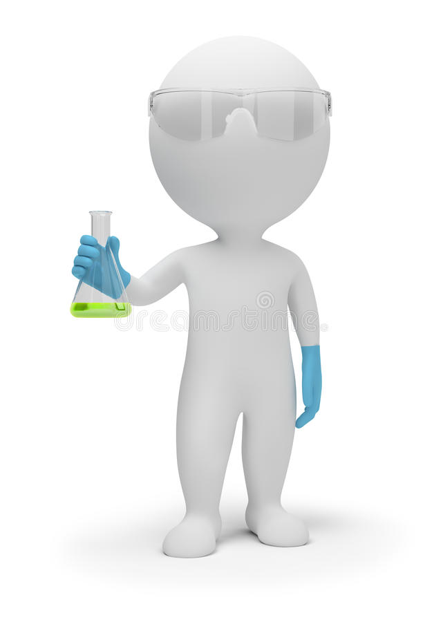 Free 3d Small People - Scientist Royalty Free Stock Images - 16718039