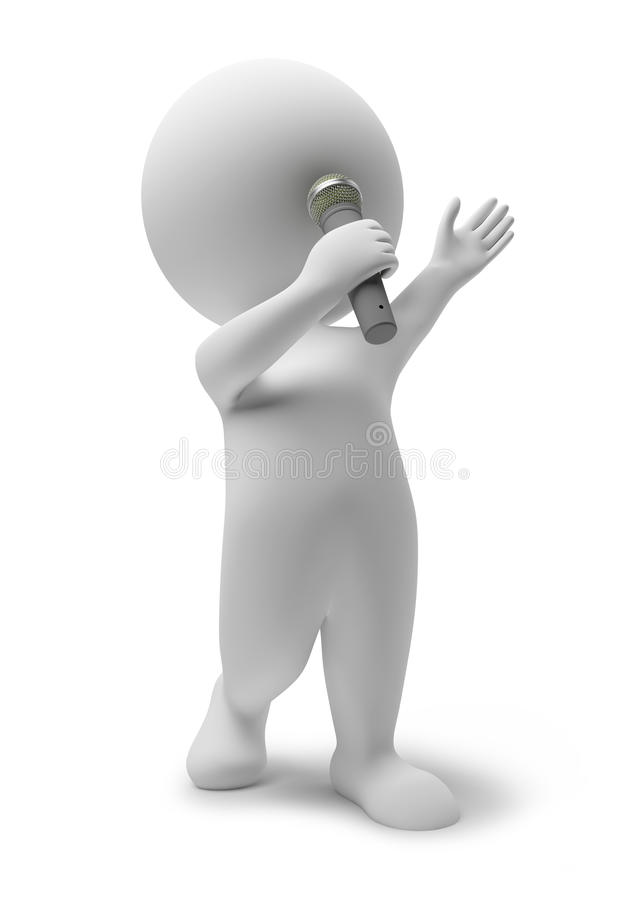 Download 3d small people - singer stock illustration. Image of white - 12776259