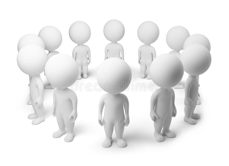 Download 3d Small People - Standing Around Stock Illustration - Image: 14119954