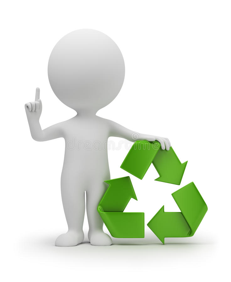 Free 3d Small People With A Recycling Symbol Stock Photo - 17291470