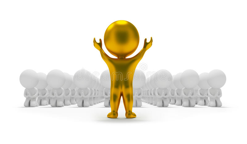 3d Small People - Worship An Idol Stock Photos