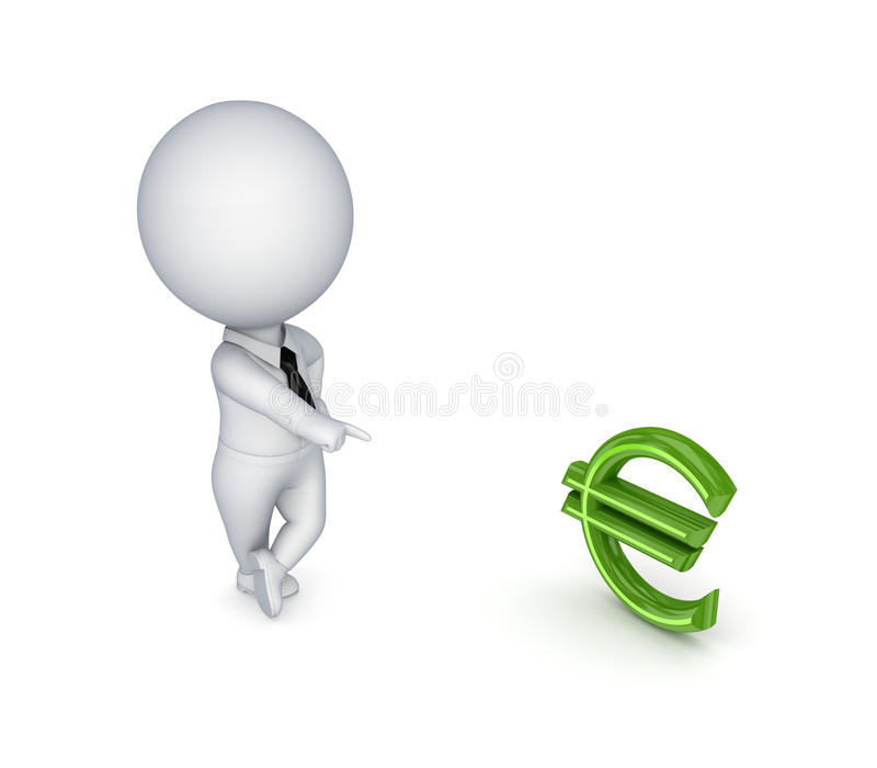 Download 3d Small Person And Dollar Sign. Stock Illustration - Image: 25120793