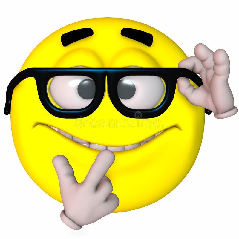 3D Smiley stock illustratie