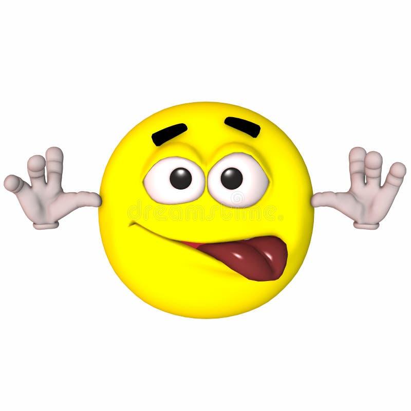 3D Smiley royalty-vrije illustratie