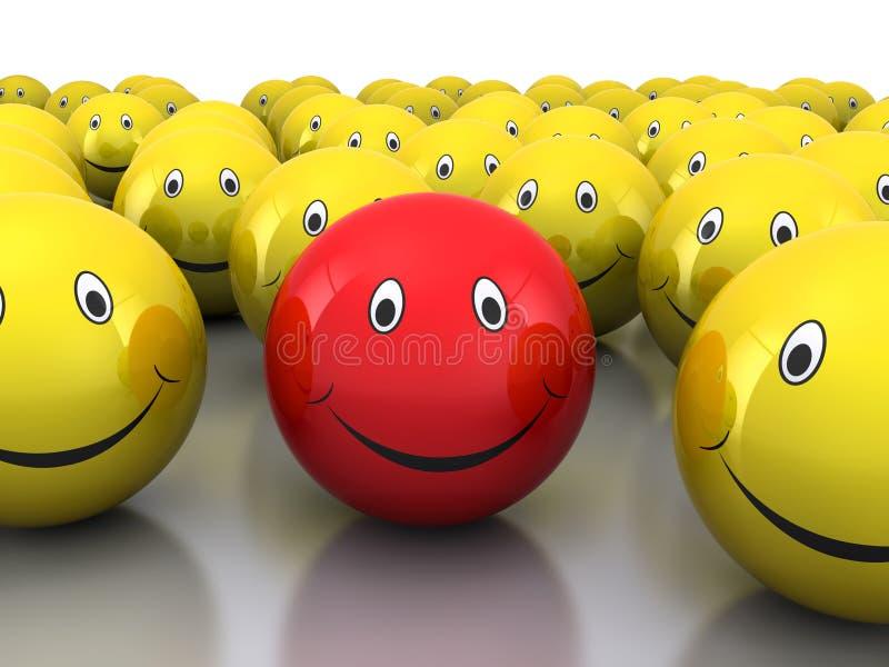 3d Smileys royalty-vrije illustratie