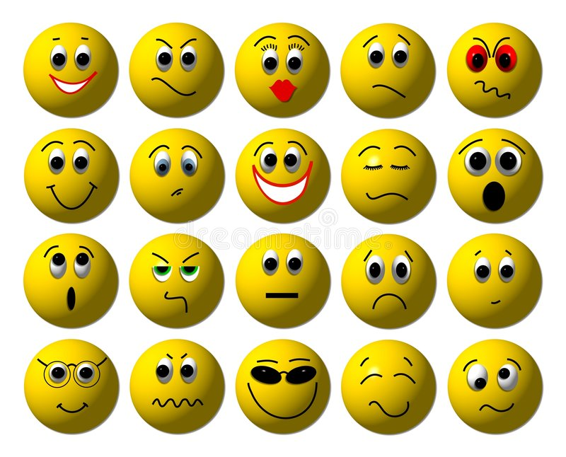 3D Smileys royalty free illustration