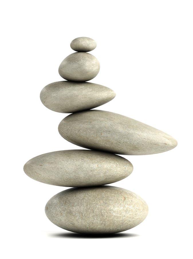 Free 3d Smooth Rocks In Balanced Arrangement Royalty Free Stock Photos - 42031538